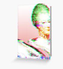 Pink Marie Glitch Greeting Card