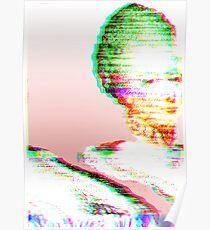 Pink Marie Glitch Poster