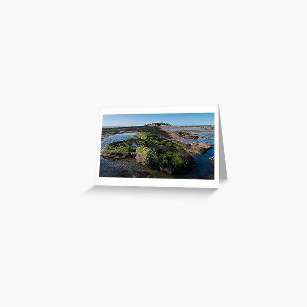 Hilbre Island Rockpools, Wirral Greeting Card