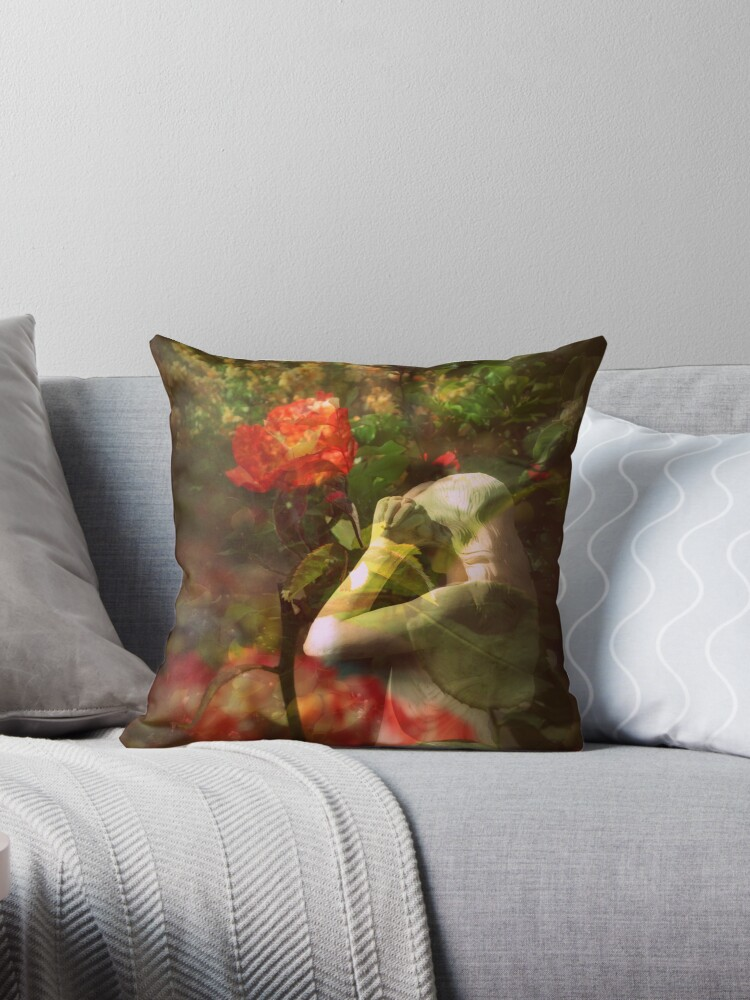 Like a Fire Tote Bag, Throw Pillow Design by Lozzar Flowers & Art