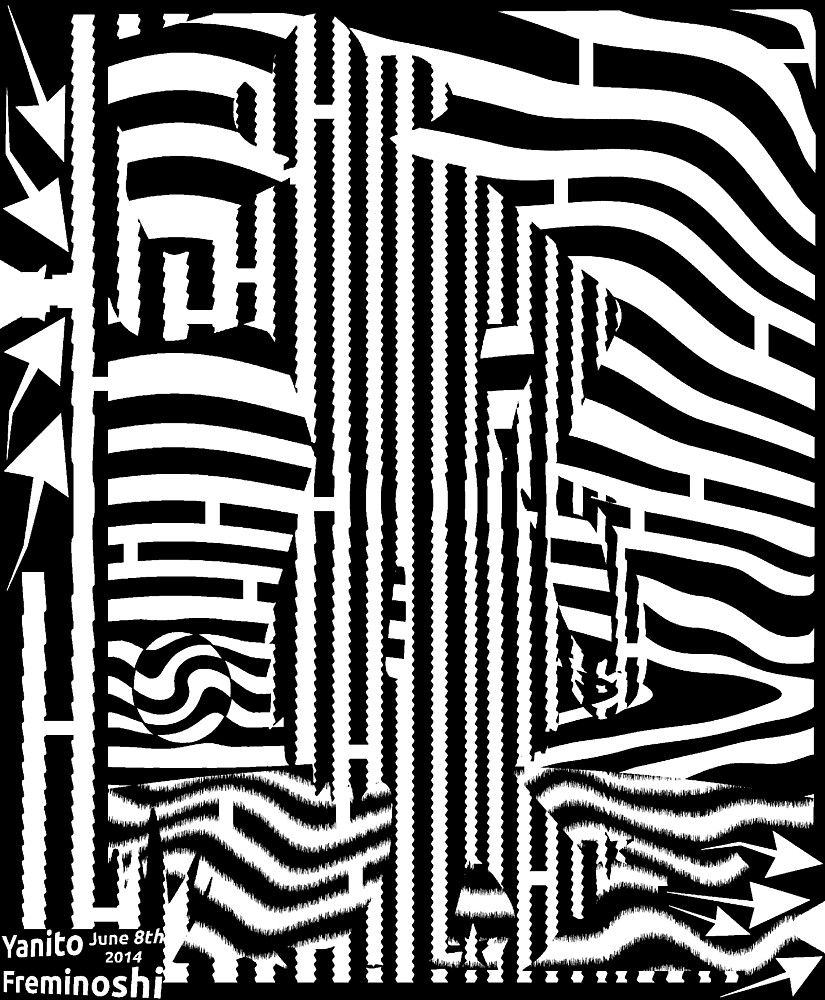 Black and white cowboy maze  by Elenapinker