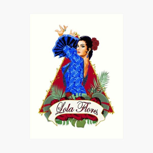 Lola Flores Lámina artística