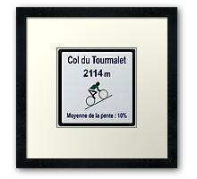Col Du Tourmalet Framed Print