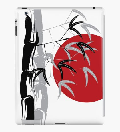Oriental Zen Bamboo And Red Sunset iPad Case/Skin