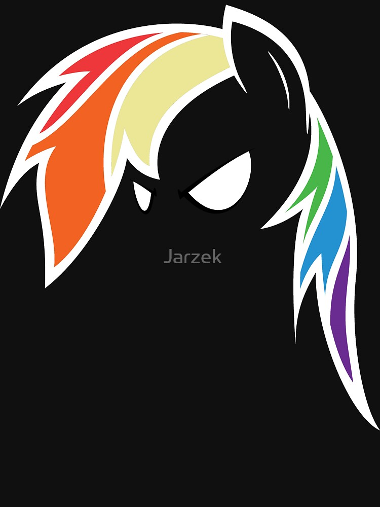 QQwich's Rainbow Dash Redux (White Outline Edit) by Jarzek