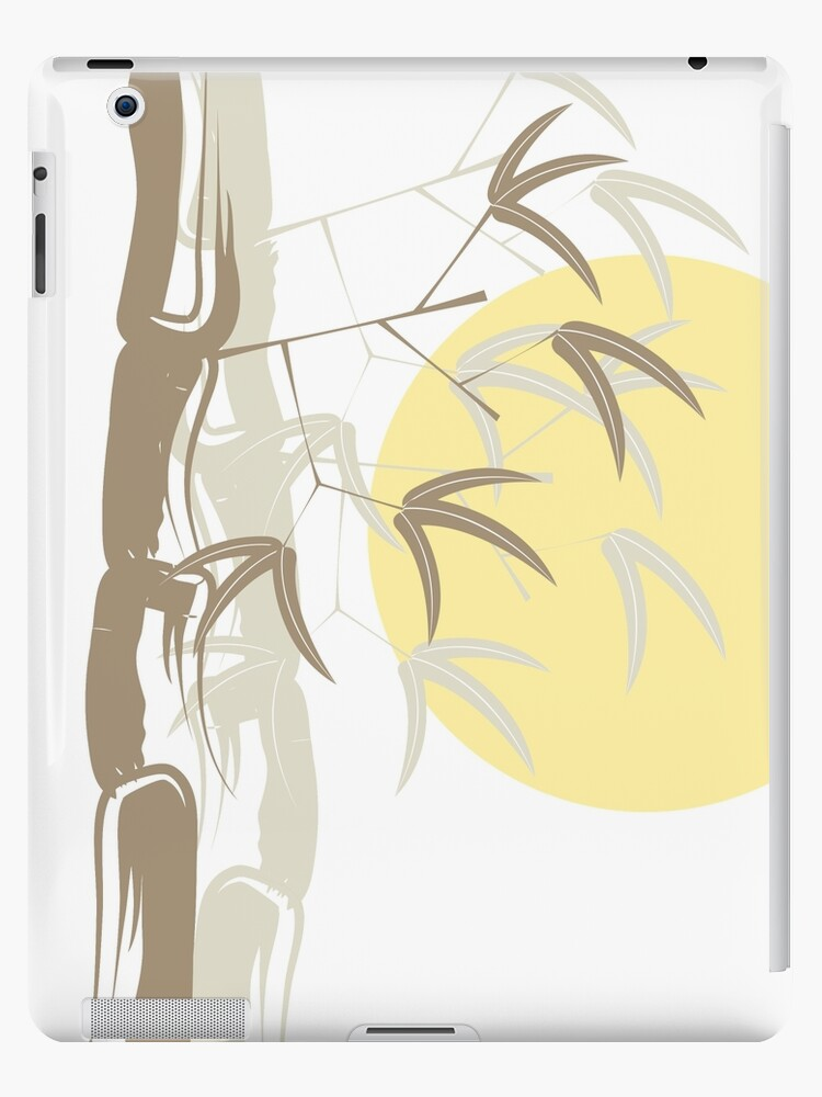 Oriental Zen Bamboo And Yellow Sunrise by fatfatin
