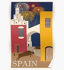 Spanien Vintage Reise Poster Poster