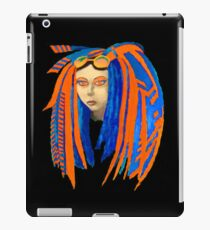 Cybergoth Girl in Contrasting Blue and Orange iPad Case/Skin