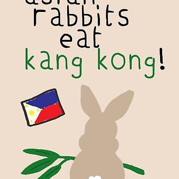 asian rabbits eat kang kong by frankierose