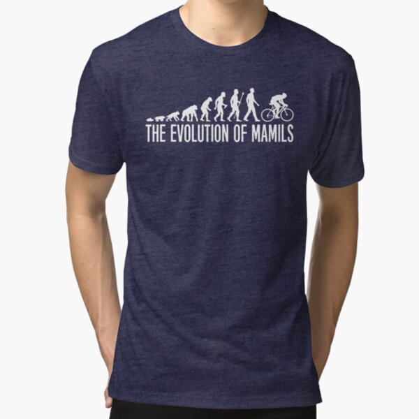 Cycling MAMIL Evolution Slim Fit TShirt Gift Trending Design T Shirt