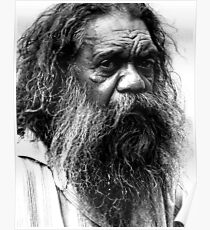 Portrait of an aborigine Poster