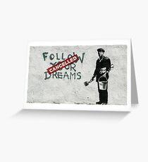 Banksy dreams Greeting Card