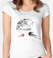 Oriental Swallows In Moonlight  Women's Fitted Scoop T-Shirt