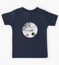 Oriental Swallows In Moonlight  Kids Tee