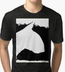 Bull Terrier Head B&W lge Tri-blend T-Shirt