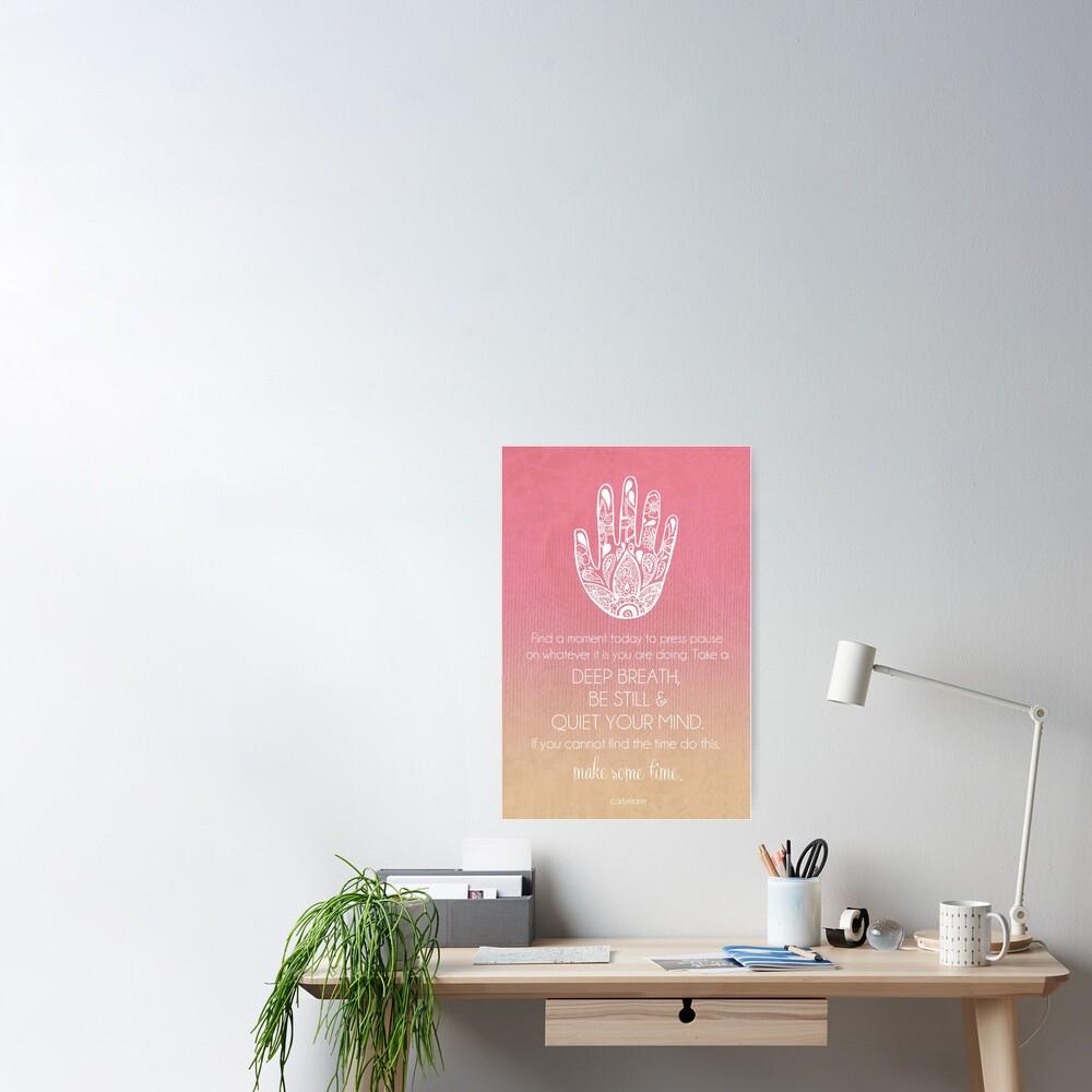 Quiet Your Mind Poster