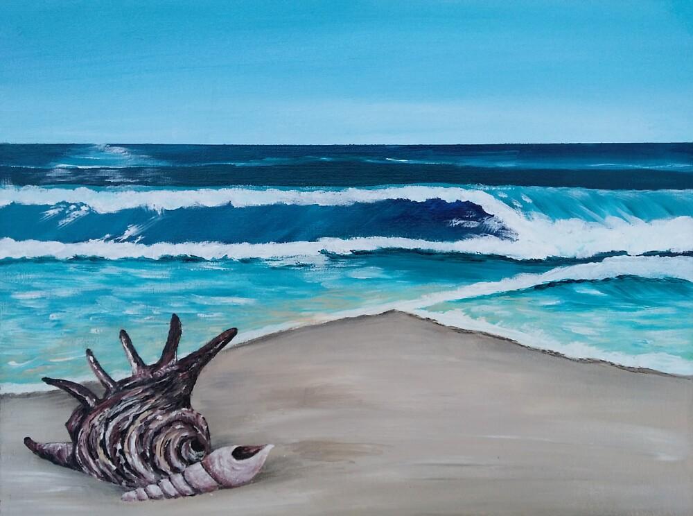 Shells on the Beach by BluGeckos