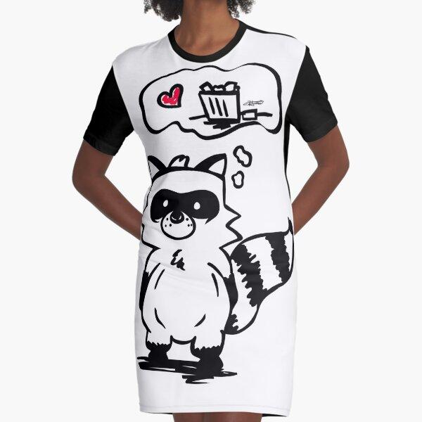 Trash Panda Graphic T-Shirt Dress
