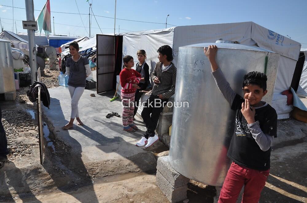 A family - Qustapa_Syrian Refugee Camp_Arbil-KRG I_15-3-2014 by ChuckBrown
