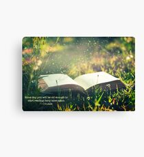 Some day you will be old enough to start reading fairy tales again ~ CS Lewis (text) Canvas Print