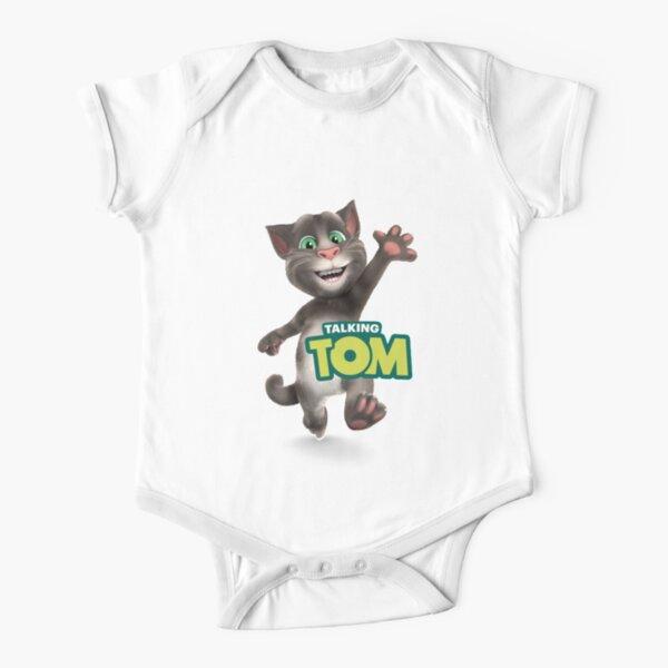 My Talking Tom Cartoon Net flex Kid T-shirt & Mask and Sticker Short Sleeve Baby One-Piece