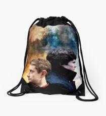 Holmes & Watson Drawstring Bag