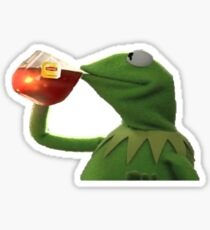 but that's none of my business meme Kermit the frog Sticker