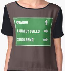 Quahog,LangleyFalls,Stoolbend Women's Chiffon Top