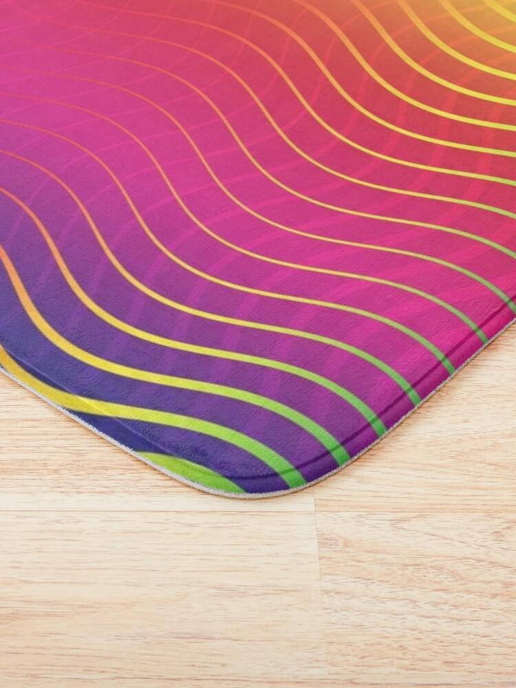 Alternate view of Rippled Rainbow Waves Bath Mat
