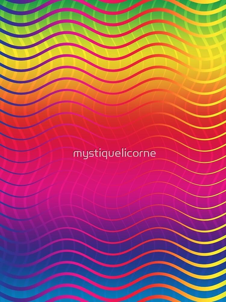 Rippled Rainbow Waves by mystiquelicorne