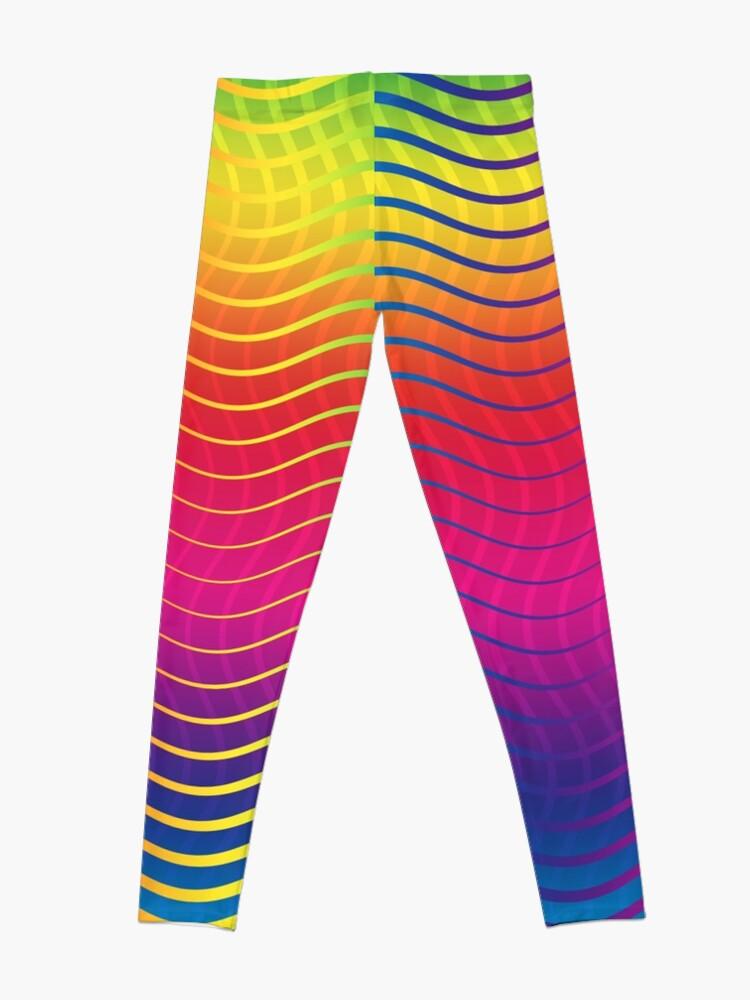Alternate view of Rippled Rainbow Waves Leggings