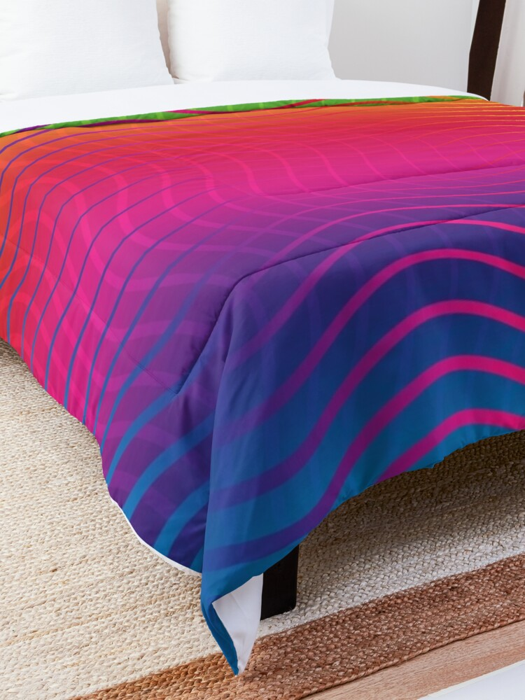 Alternate view of Rippled Rainbow Waves Comforter