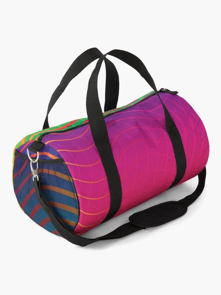 Alternate view of Rippled Rainbow Waves Duffle Bag