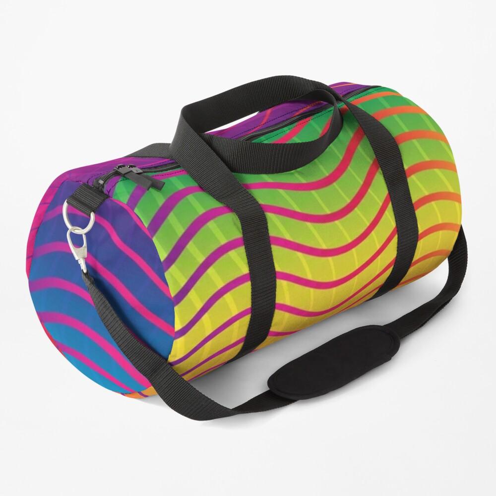 Rippled Rainbow Waves Duffle Bag