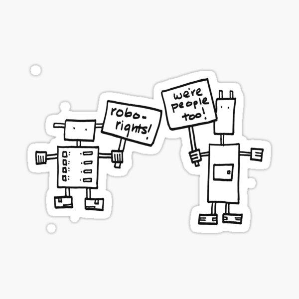 Robo-Rights Sticker