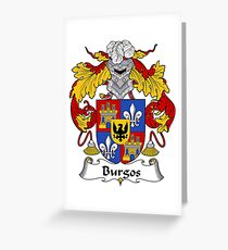 Burgos Coat of Arms/Family Crest Greeting Card