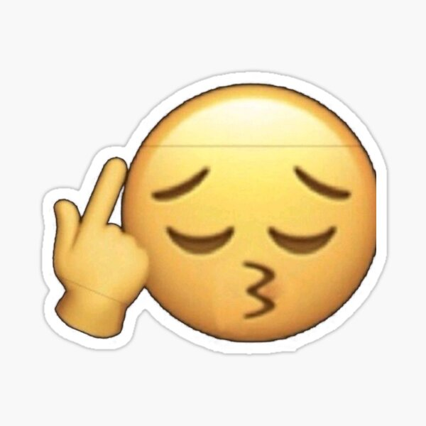 Emoji de mordida de labios Pegatina