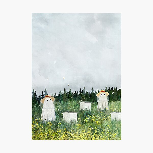 There's Ghosts By The Apiary Again... Photographic Print
