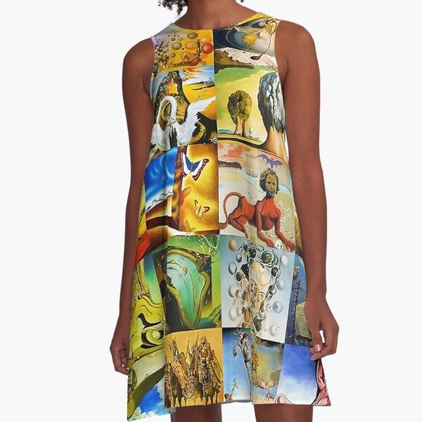A Collage Of Salvador Dali A-Line Dress