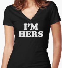 I'm Hers Women's Fitted V-Neck T-Shirt