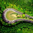 Aerial shot #2 of the Nürburgring Nordschleife Caracciola Karussell by BridgeToGantry