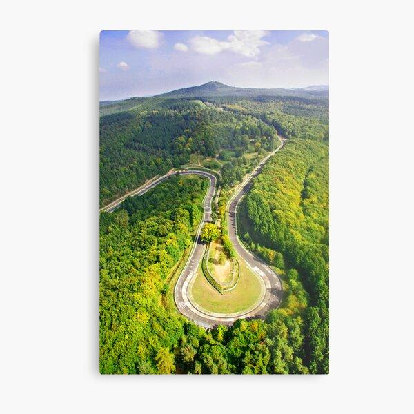 Aerial shot #3 of the Nürburgring Nordschleife Caracciola Karussell Metal Print