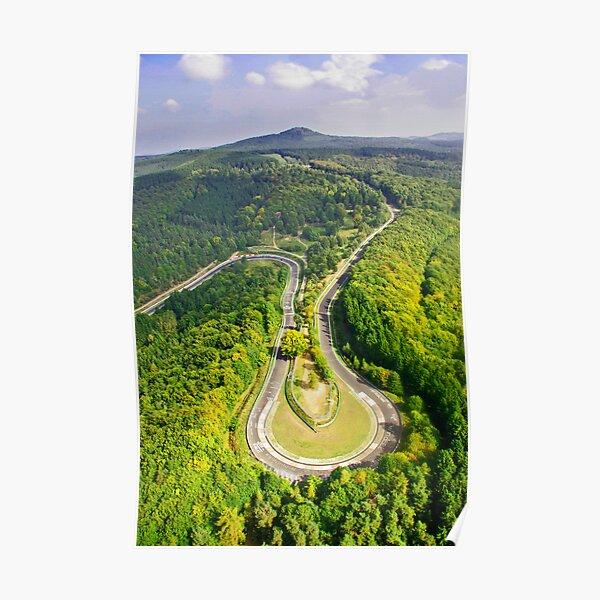 Photo aérienne # 3 du Nürburgring Nordschleife Caracciola Karussell Poster