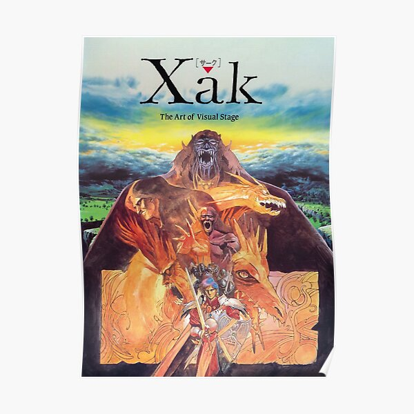 Xak The art of visual stage MSX Poster