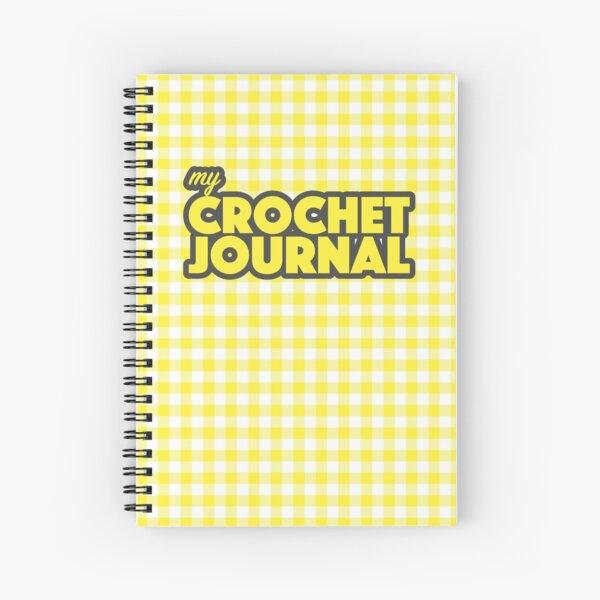 Yellow Gingham Crochet Journal Spiral Notebook