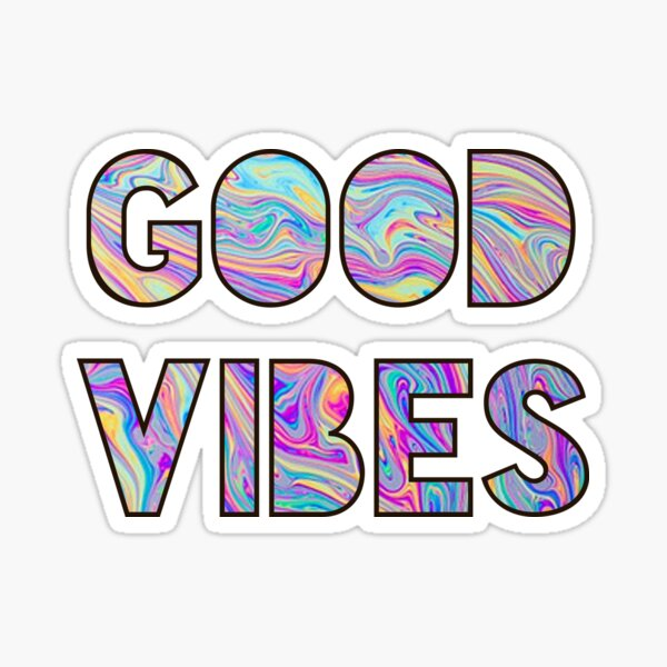 Swirly Good Vibes Sticker