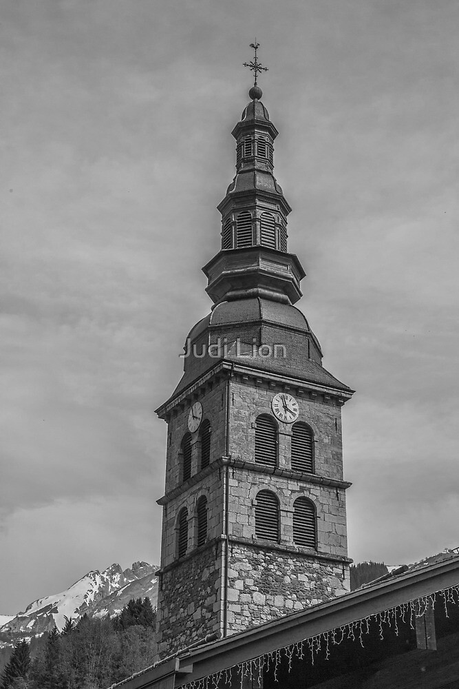 Church in La Clusaz by Judi Lion
