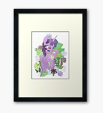 Twilight, Spike and Succulents Framed Print