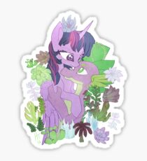 Twilight, Spike and Succulents Sticker