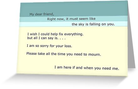 Sympathy Card by bibliobrouhaha